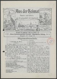 Aus der Heimat. Ernstes und Heiteres aus Vergangenheit und Gegenwart, 1913, Nr. [14]