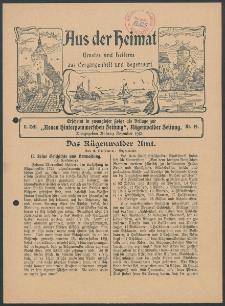 Aus der Heimat. Ernstes und Heiteres aus Vergangenheit und Gegenwart, 1913, Nr. [19]