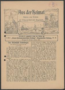 Aus der Heimat. Ernstes und Heiteres aus Vergangenheit und Gegenwart, 1914, Nr. [20]