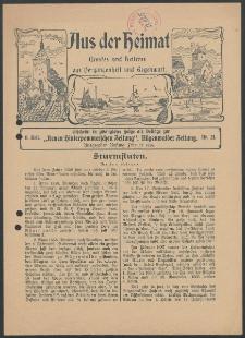 Aus der Heimat. Ernstes und Heiteres aus Vergangenheit und Gegenwart, 1914, Nr. [21]