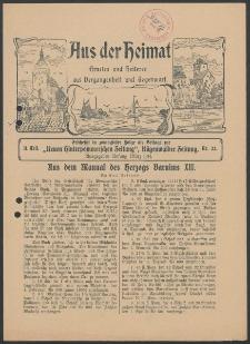 Aus der Heimat. Ernstes und Heiteres aus Vergangenheit und Gegenwart, 1914, Nr. [22]