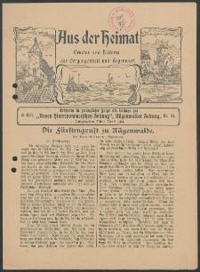Aus der Heimat. Ernstes und Heiteres aus Vergangenheit und Gegenwart, 1914, Nr. [24]