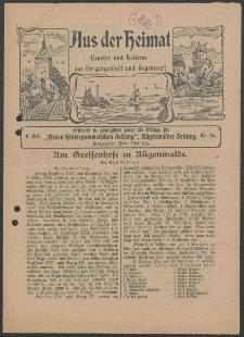 Aus der Heimat. Ernstes und Heiteres aus Vergangenheit und Gegenwart, 1914, Nr. [26]