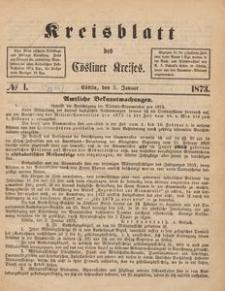 Kreisblatt des Cösliner Kreises 1873