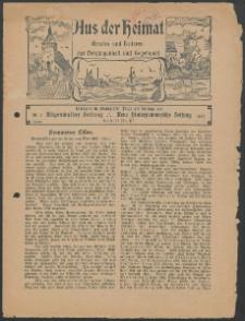 Aus der Heimat. Ernstes und Heiteres aus Vergangenheit und Gegenwart, 1927, Nr. [1]