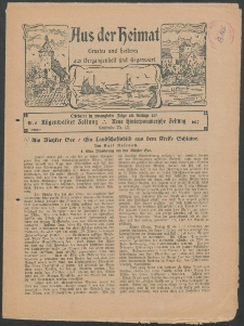 Aus der Heimat. Ernstes und Heiteres aus Vergangenheit und Gegenwart, 1927, Nr. [5]