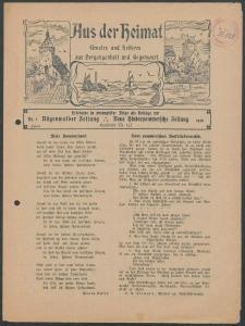 Aus der Heimat. Ernstes und Heiteres aus Vergangenheit und Gegenwart, 1928, Nr. [1]