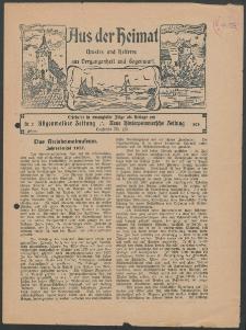 Aus der Heimat. Ernstes und Heiteres aus Vergangenheit und Gegenwart, 1928, Nr. [2]