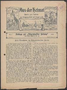 Aus der Heimat. Ernstes und Heiteres aus Vergangenheit und Gegenwart, 1933, Nr. [5]