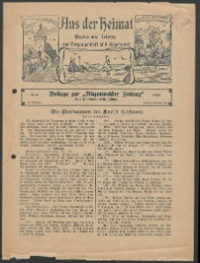 Aus der Heimat. Ernstes und Heiteres aus Vergangenheit und Gegenwart, 1933, Nr. [6]