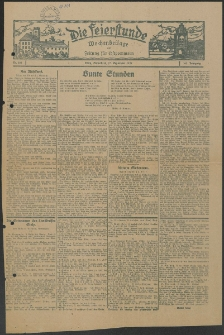 Die Feierstunde : Wochenbeilage der Zeitung für Ostpommern, 1927, Nr. 218
