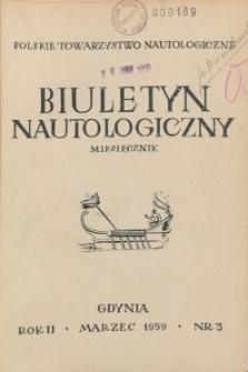 Biuletyn Nautologiczny, nr 3, 1959 r.