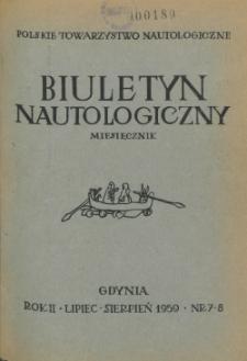 Biuletyn Nautologiczny, nr 7-8, 1959 r.