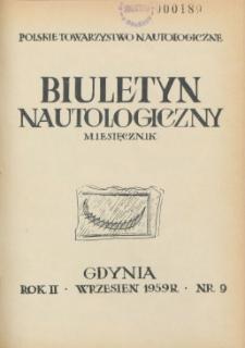 Biuletyn Nautologiczny, nr 9, 1959 r.