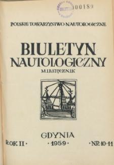 Biuletyn Nautologiczny, nr 10-11, 1959 r.