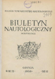 Biuletyn Nautologiczny, nr 12, 1959 r.