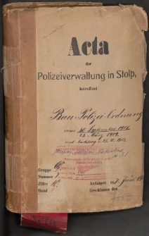 Baupolizei Ordnung von 30.9.1905, 25.03.1909 und Nachtrag von 25.10.1913