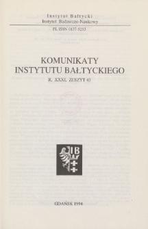 Komunikaty Instytutu Bałtyckiego, z.43