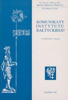 Komunikaty Instytutu Bałtyckiego, z.44