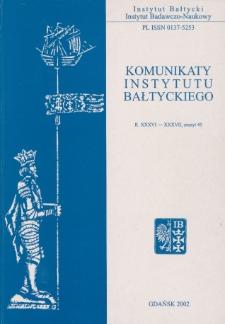 Komunikaty Instytutu Bałtyckiego, z.45