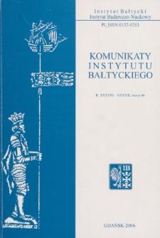 Komunikaty Instytutu Bałtyckiego, z.46