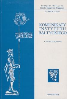 Komunikaty Instytutu Bałtyckiego, z.47