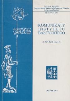 Komunikaty Instytutu Bałtyckiego, z.48