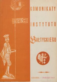 Komunikaty Instytutu Bałtyckiego, z.7
