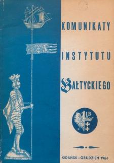 Komunikaty Instytutu Bałtyckiego, z.9