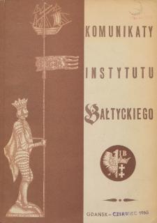 Komunikaty Instytutu Bałtyckiego, z.8