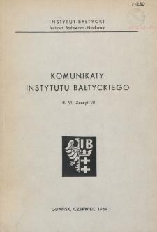 Komunikaty Instytutu Bałtyckiego, z.10