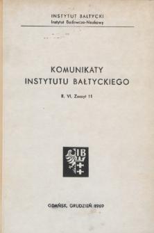 Komunikaty Instytutu Bałtyckiego, z.11