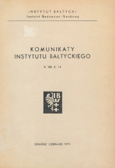 Komunikaty Instytutu Bałtyckiego, z.14