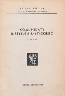 Komunikaty Instytutu Bałtyckiego, z.16