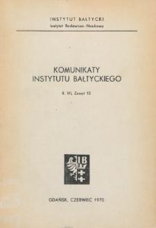 Komunikaty Instytutu Bałtyckiego, z.12