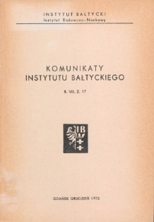 Komunikaty Instytutu Bałtyckiego, z.17