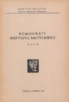 Komunikaty Instytutu Bałtyckiego, z.18