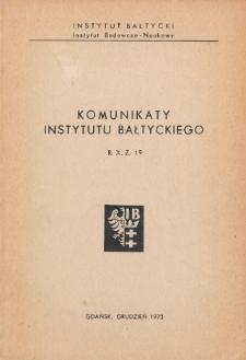 Komunikaty Instytutu Bałtyckiego, z.19