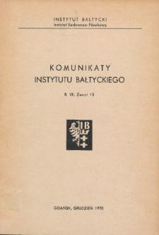 Komunikaty Instytutu Bałtyckiego, z.13
