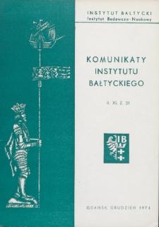 Komunikaty Instytutu Bałtyckiego, z.21