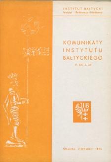 Komunikaty Instytutu Bałtyckiego, z.23