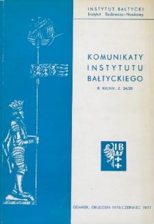 Komunikaty Instytutu Bałtyckiego, z.24/25