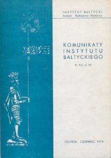 Komunikaty Instytutu Bałtyckiego, z.29