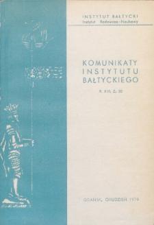 Komunikaty Instytutu Bałtyckiego, z.30