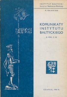 Komunikaty Instytutu Bałtyckiego, z.33