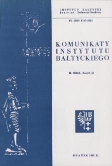 Komunikaty Instytutu Bałtyckiego, z.41