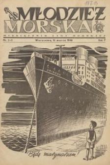 Młodzież Morska : miesięcznik Ligi Morskiej, 1946, nr 2-3