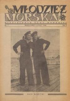 Młodzież Morska : miesięcznik Ligi Morskiej, 1946, nr 7