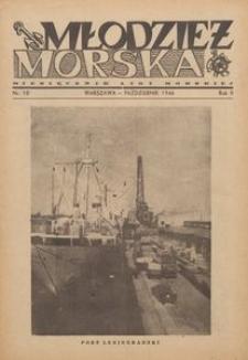 Młodzież Morska : miesięcznik Ligi Morskiej, 1946, nr 10
