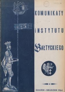Komunikaty Instytutu Bałtyckiego, [z.1]